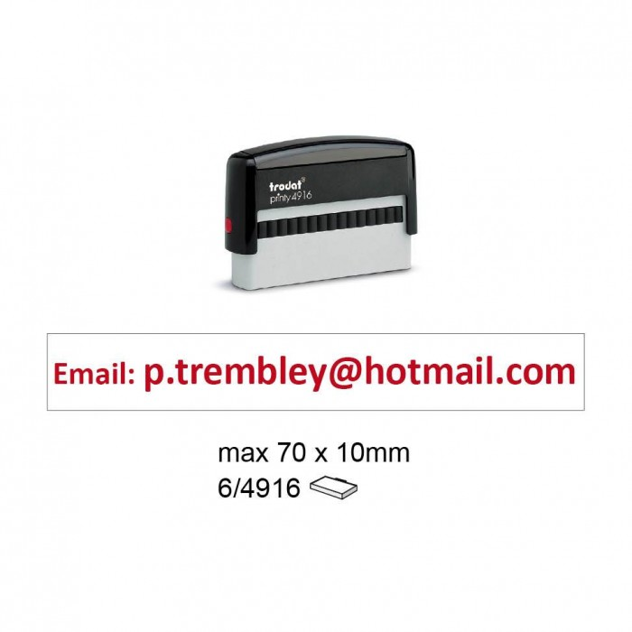 Trodat 4916 Self Inking Stamps 70x10mm