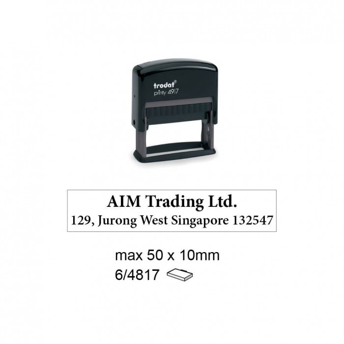Trodat 4917 Self Inking Stamps 50x10mm