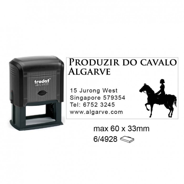 Trodat 4928 Self Inking Stamps 60x33mm