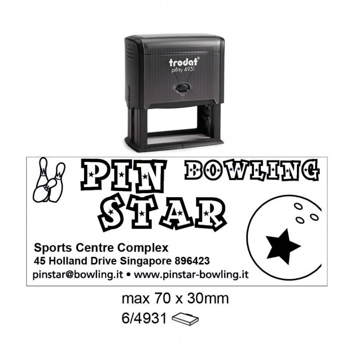 Trodat 4931 Self Inking Stamps 70x30mm