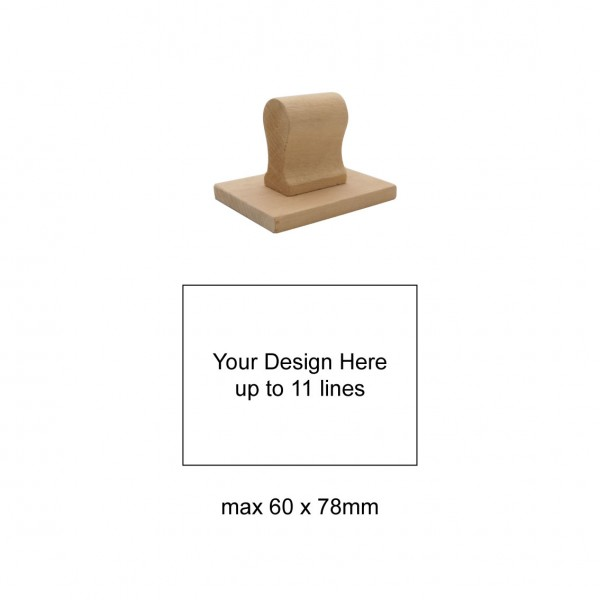 Extra Large Size Hand Stamp 60x78mm