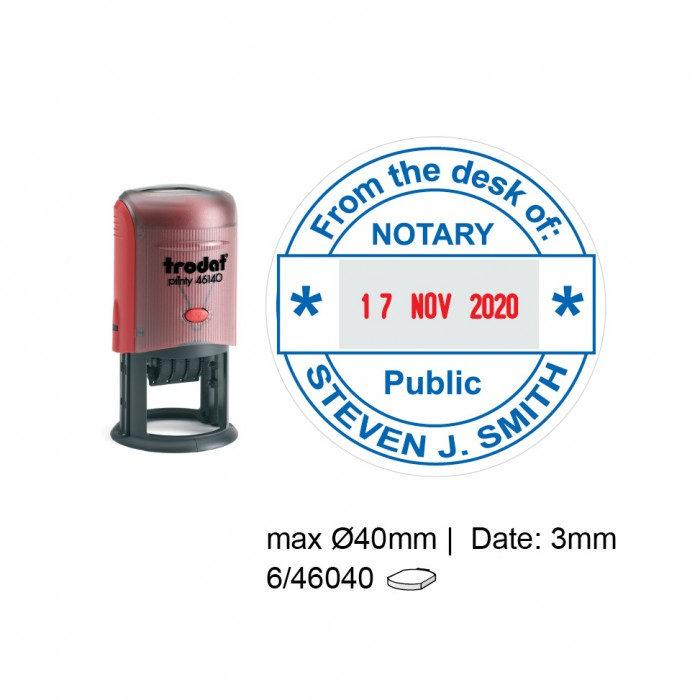 Trodat 46140 Self Inking Stamps 40mm