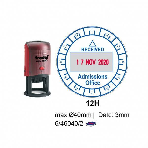 Trodat 46140/U12H Self Inking Stamps 40mm