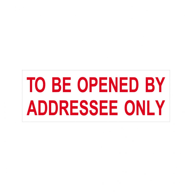 to be opened by addressee only stock stamp 4911 45 rubberstamps