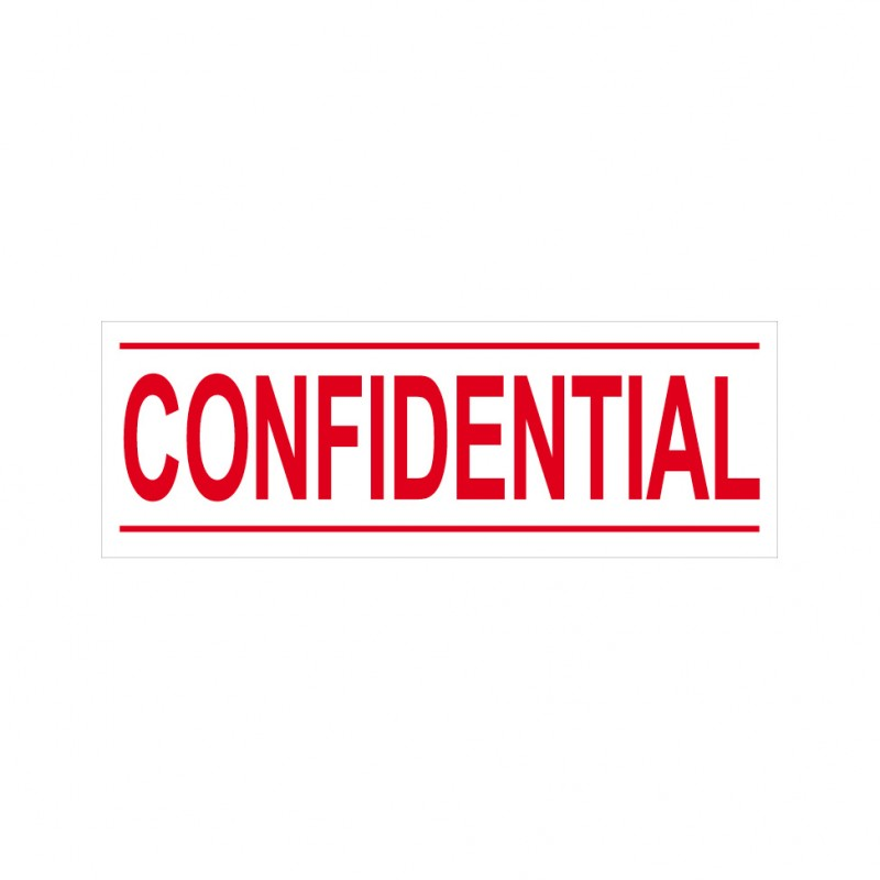 Confidential Stock Stamp 4911 6 38x14mm