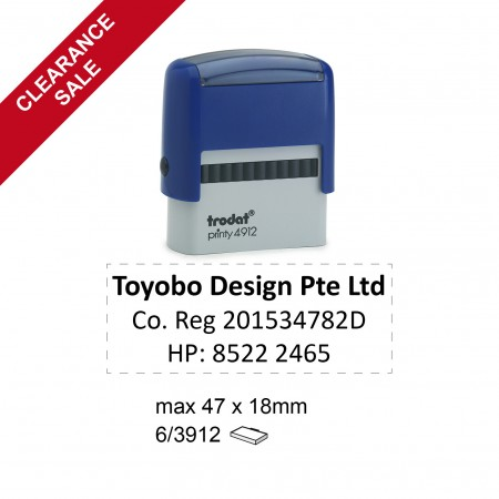 Trodat 4912/P2 Self Inking Stamps 47x18mm