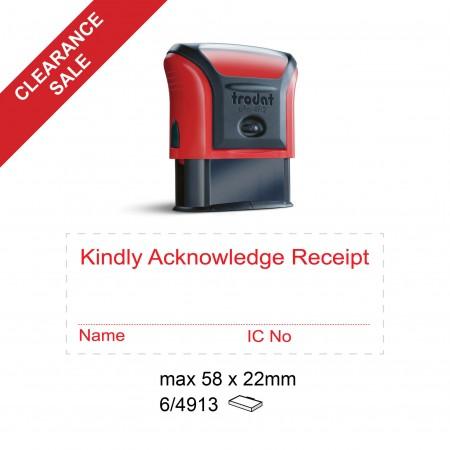 Trodat 4913/P3 Self Inking Stamp 58x22mm