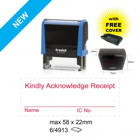 Trodat 4913 Self Inking Stamps 58x22mm