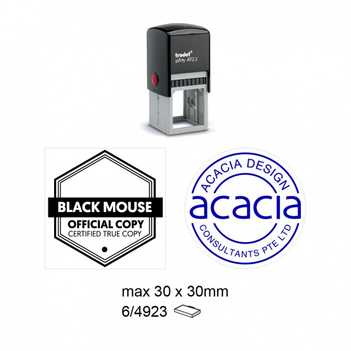 Trodat 4923 Self Inking Stamps 30x30mm